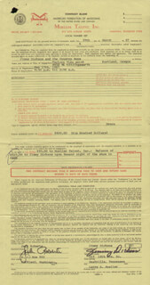 JIMMY LITTLE JIMMY DICKENS - CONTRACT SIGNED 03/29/1967 CO-SIGNED BY: JACK ROBERTS
