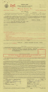 JIMMY LITTLE JIMMY DICKENS - CONTRACT SIGNED 01/27/1967 CO-SIGNED BY: HOLLAND HOLLY HOUFBURG
