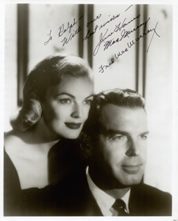 FRED MacMURRAY - AUTOGRAPHED INSCRIBED PHOTOGRAPH CO-SIGNED BY: JUNE HAVER