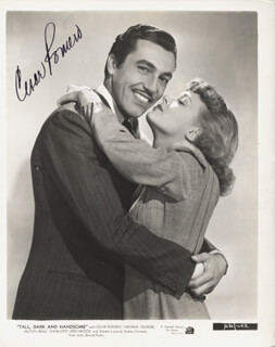 CESAR ROMERO - PRINTED PHOTOGRAPH SIGNED IN INK