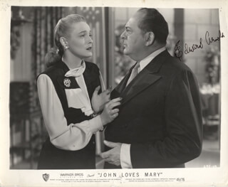 EDWARD ARNOLD - AUTOGRAPHED SIGNED PHOTOGRAPH CIRCA 1948