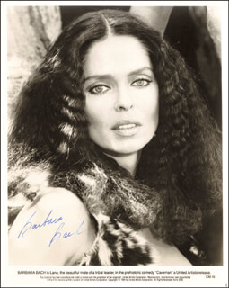 BARBARA BACH - AUTOGRAPHED SIGNED PHOTOGRAPH 1981