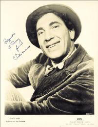 CHICO (LEONARD) MARX - INSCRIBED PRINTED PHOTOGRAPH SIGNED IN INK