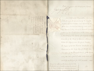 KING GEORGE IV (GREAT BRITAIN) - DOCUMENT SIGNED 07/15/1813 CO-SIGNED BY: MARQUIS ROBERT STEWART (VISCOUNT CASTLEREAGH) LONDONDERRY