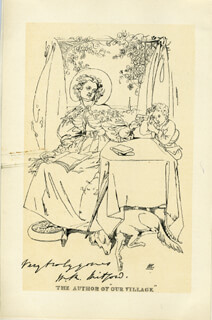 MARY RUSSELL MITFORD - ILLUSTRATION UNSIGNED