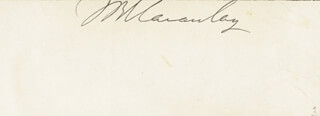 THOMAS BABINGTON MACAULAY - CLIPPED SIGNATURE