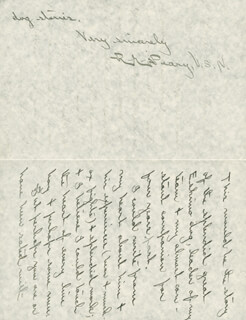ADMIRAL ROBERT E. PEARY - AUTOGRAPH LETTER SIGNED 02/15/1903