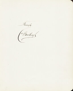 CHARLES BRADLAUGH - AUTOGRAPH SENTIMENT SIGNED