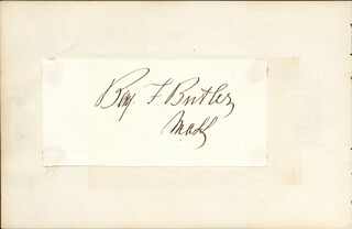 MAJOR GENERAL BENJAMIN F. BUTLER - AUTOGRAPH