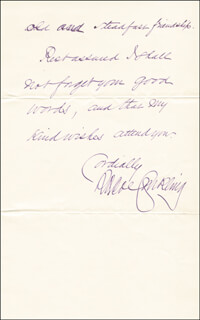 ROSCOE CONKLING - AUTOGRAPH LETTER SIGNED 08/05/1878