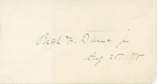 RICHARD HENRY DANA JR. - AUTOGRAPH 08/25/1875
