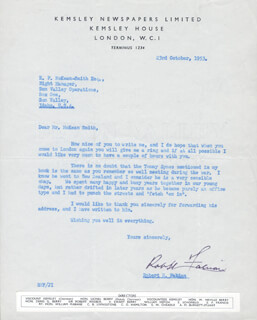 ROBERT H. FABIAN - TYPED LETTER SIGNED 10/23/1953