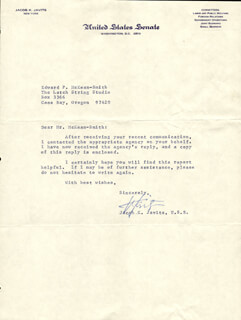JACOB K. JAVITS - TYPED LETTER SIGNED