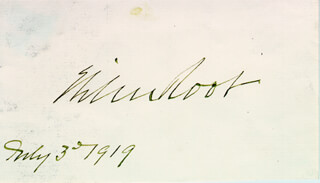 Autographs: ELIHU ROOT - SIGNATURE(S) 07/03/1919