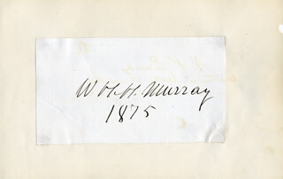 WILLIAM H. H. MURRAY - AUTOGRAPH 1875