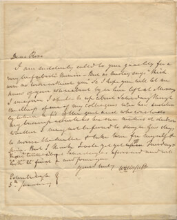 SIR WALTER SCOTT - AUTOGRAPH LETTER SIGNED 01/05/1821