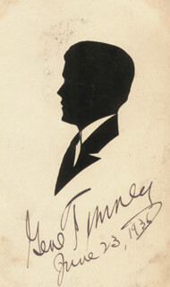 GENE TUNNEY - ORIGINAL ART SIGNED 06/23/1936