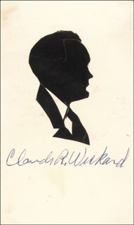 Autographs: CLAUDE R. WICKARD - ORIGINAL ART SIGNED