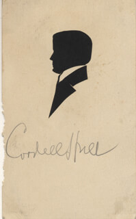 Autographs: CORDELL HULL - ORIGINAL ART SIGNED