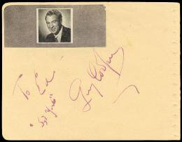 GARY COOPER - INSCRIBED SIGNATURE