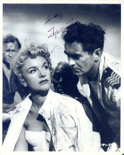 TYRONE POWER - AUTOGRAPHED SIGNED PHOTOGRAPH CIRCA 1956