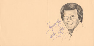 BOBBY RYDELL - PRINTED CARD SIGNED IN INK