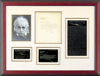 Autographs: ALBERT EINSTEIN - TYPED LETTER SIGNED 05/04/1933
