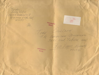 HARRY WIERE - AUTOGRAPH ENVELOPE SIGNED CIRCA 1987