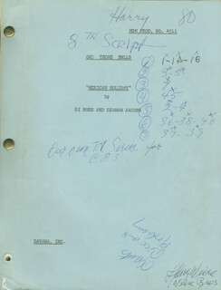 HARRY WIERE - SCRIPT SIGNED