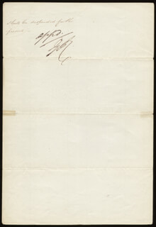 KING GEORGE IV (GREAT BRITAIN) - DOCUMENT SIGNED 08/20/1823
