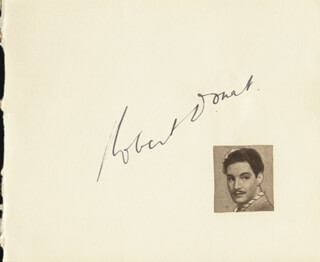 Autographs: ROBERT DONAT - SIGNATURE(S) CO-SIGNED BY: BILLY BENNETT