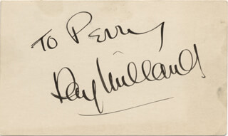 RAY MILLAND - INSCRIBED SIGNATURE