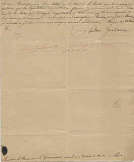 Autographs: KING FREDERICK WILLIAM III - MANUSCRIPT LETTER SIGNED 04/23/1817
