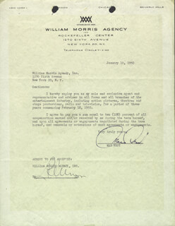 MAE WEST - CONTRACT SIGNED 01/10/1950