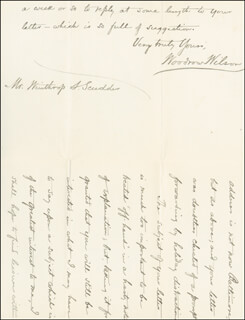 PRESIDENT WOODROW WILSON - AUTOGRAPH LETTER SIGNED 01/04/1887