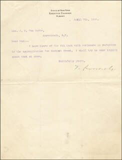 PRESIDENT THEODORE ROOSEVELT - TYPED LETTER SIGNED 04/07/1899