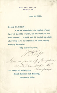 PRESIDENT WILLIAM H. TAFT - TYPED LETTER SIGNED 06/28/1908