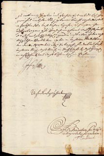 Autographs: EMPEROR JOSEPH I - DOCUMENT SIGNED 1705