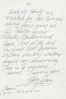HARRY WIERE - AUTOGRAPH LETTER SIGNED 06/09/1987