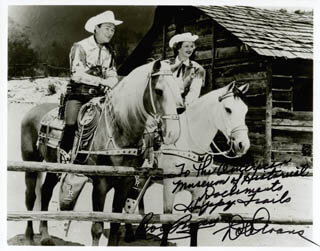 ROY ROGERS - AUTOGRAPHED INSCRIBED PHOTOGRAPH CO-SIGNED BY: DALE EVANS