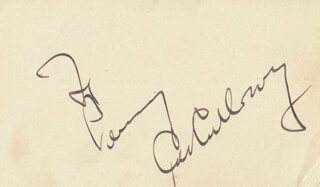 CAB CALLOWAY - INSCRIBED SIGNATURE