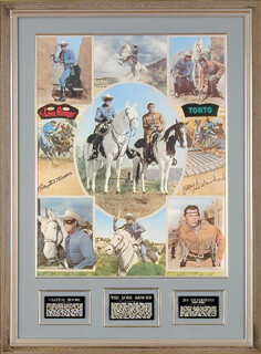 LONE RANGER TV CAST - AUTOGRAPHED SIGNED POSTER CO-SIGNED BY: CLAYTON THE LONE RANGER MOORE, JAY TONTO SILVERHEELS