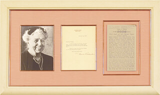 Autographs: FIRST LADY ELEANOR ROOSEVELT - TYPED LETTER SIGNED 01/11/1939