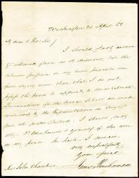 PRESIDENT JAMES BUCHANAN - AUTOGRAPH LETTER SIGNED 04/20/1858