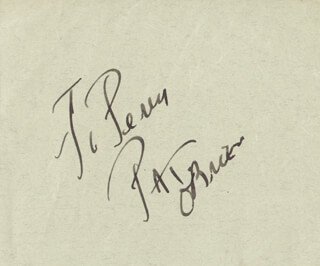 PAT O'BRIEN - INSCRIBED SIGNATURE