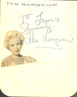 IDA LUPINO - AUTOGRAPH NOTE SIGNED CIRCA 1934 CO-SIGNED BY: EDWARD EDDIE QUILLAN