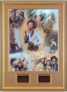 ROY ROGERS - AUTOGRAPHED SIGNED POSTER