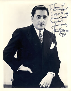 JAN PEERCE - AUTOGRAPHED INSCRIBED PHOTOGRAPH 1943