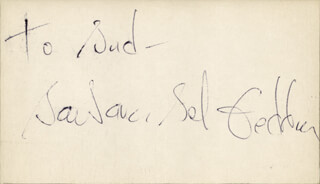 BARBARA BEL GEDDES - INSCRIBED SIGNATURE