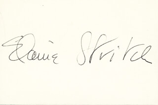 ELAINE STRITCH - AUTOGRAPH